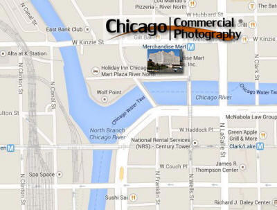 Map to Chicago Commercial Photography